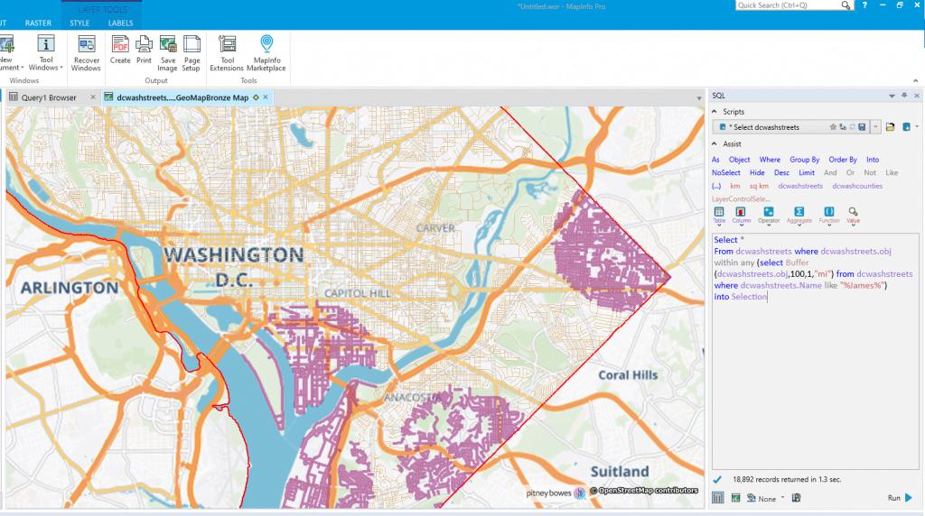 MapInfo Pro v2019 Screenshot